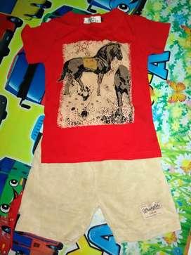 Setelan baju anak 3 th like new