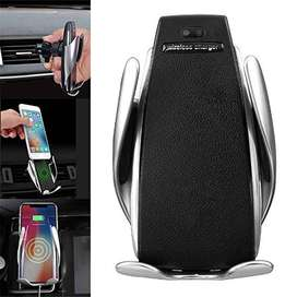 Online Wholesales S6 Wireless Car Charger Mount Automatic Clamping Fas
