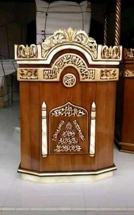 Mimbar masjid podium jati asli
