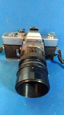 kamera analog Minolta SRT Super lensa MC 50mm f1.4 Jadul