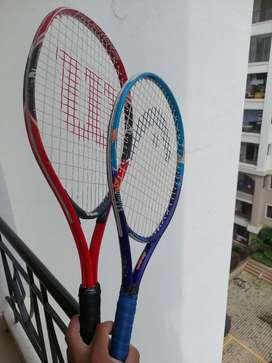 Tennis Rackets-Juniors (Wilson and Head)