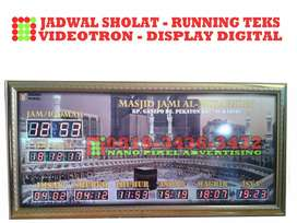 Led screen display digital Videotron running teks berjalan jam sholat