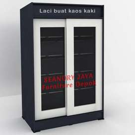 SEANDRY JAYA Furniture Depok/Lemari rak sepatu/sliding/Minimalis/murah