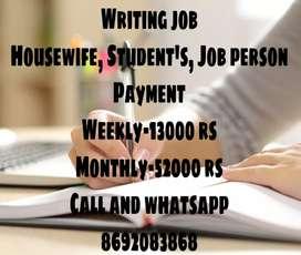Home Based Writing Job