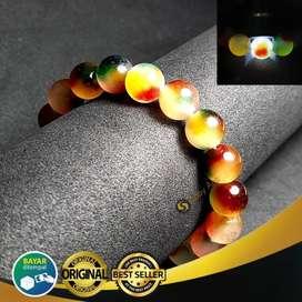 Gelang Batu Multicolor Natural Giok Pancawarna Saby