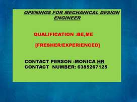 IMEDIATE OPENING FOR MECHANICAL ENGINEER