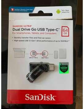 Sandisk OTG 64GB USB Type-C USb 3.1 Ultra Dual Drive Go