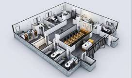 1 Kanal Commercial Kothi For Sale With Shops