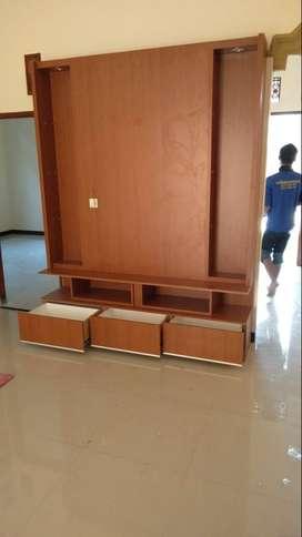 Backdrop TV buffet TV furniture Mebel HPL aneka Kitchenset Minibar