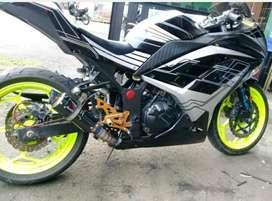 Knalpot austin racing ninja 250 carbu & fi. Z250. Sl mono