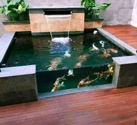 Kolam koi/kolam batu alam