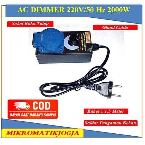 Pengatur Kecepatan Kipas Angin Bor dan Gerinda / Dimmer AC 220V 2000W 0