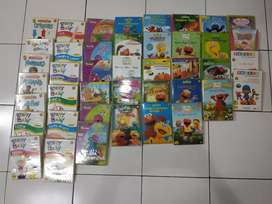 DVD edukasi collection sesame street, barney, brainy baby. In English