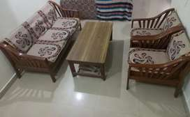 Five seater sofa set of teak wood
