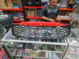 Grill Toyota Hilux Vigo Plastik Pnp Ada Lampu Led