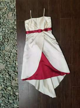 Dress pesta satin cantik fit size S