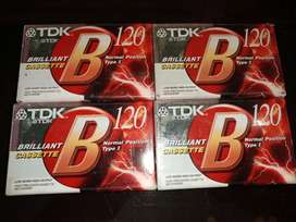 Sealed Packed TDK B120 Cassettes for all Recording Purposes