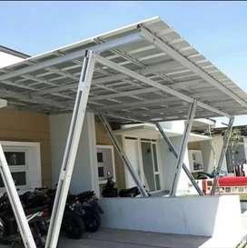 Canopy carport spandek,kaca,membran,pollycarbonat dll.