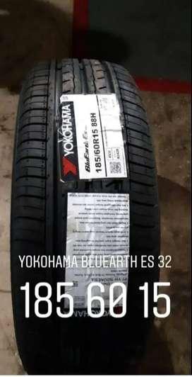 BAN MOBIL IMPORT JEPANG YOKOHAMA blueart ES32 185 60 R15 BUKAN TOYO GT