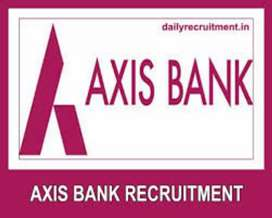 Axis bank application for the job.