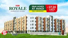 Apartments are exclusively 2 BHK gated comminity