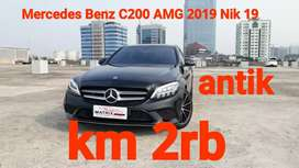 Mercedes Benz C200 AMG 2019 Nik19 Hitam Km2rb Antik ATPM 3Yrs Warranty