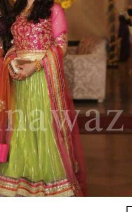 Designer mehndi bridal dress for women