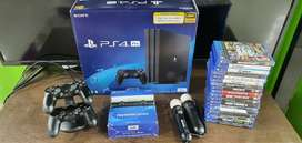 Used ps4 pro 1tb with games and 1 year warranty