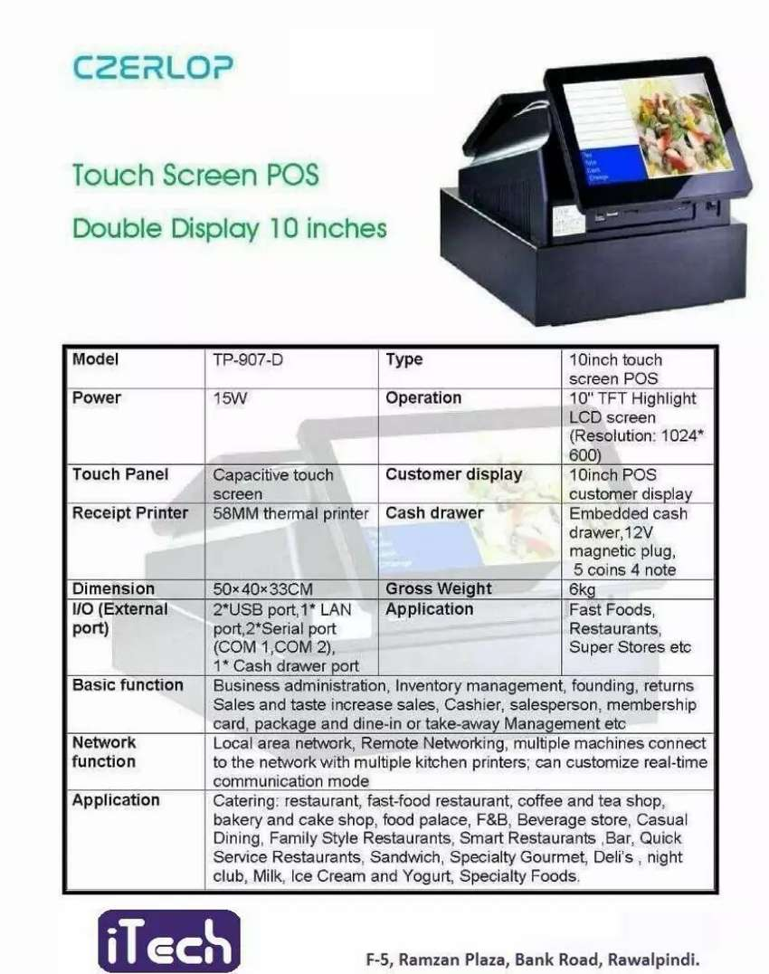 ECR Machine Touch Screen Double Display POS