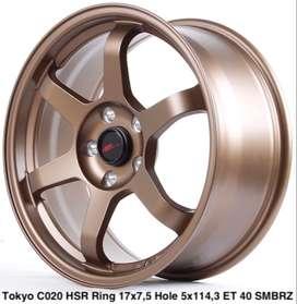 velg plaju tokyo c020 hsr ring 17 lebar 75 warna bronze