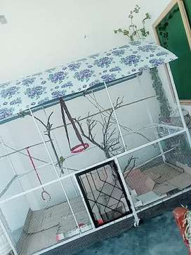 Bird Cage PINJRA New Fancy Cage .with whels .Mukmal decorations ke hue