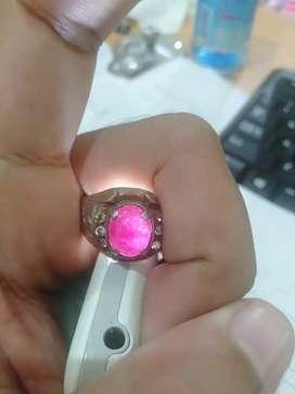 Cincin batu akik ruby