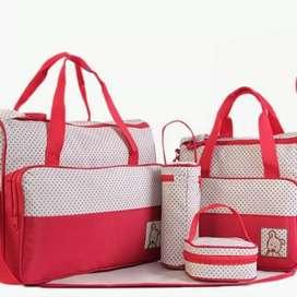 Baby Bag Set / Tas Perlengkapan Bayi 5 in 1 Cocok untuk Kado
