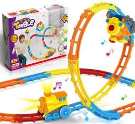 Tumble Track Train Play Set With Lights And Sound Roller Coaster Rails