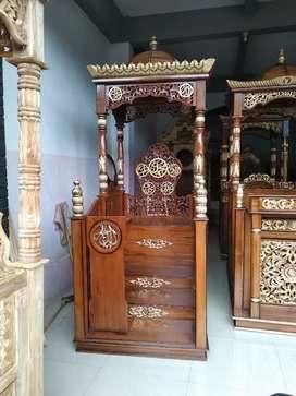 Mimbar masjid bahan kayu jati bisa request