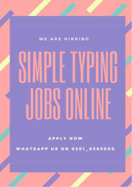 Online simple typing earning opportunity for all apply now