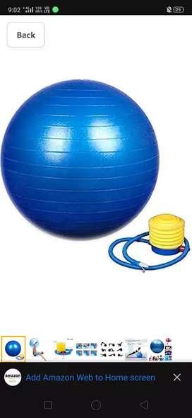 Gym ball and exercise
