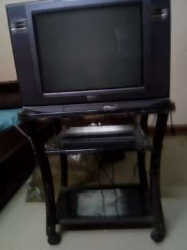TV,stand and a DVD player