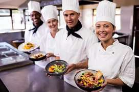 Required helper for pizza restaurant in delhi.