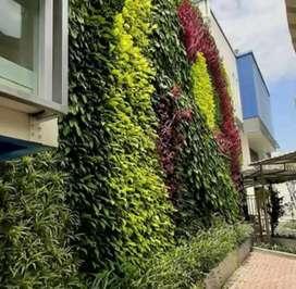 Kami sepesialis jasa pembuatan taman dingding vertical garden.