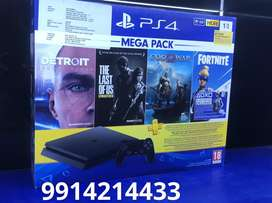 ps4 1 tb with 12 games with bill and one year warranty -26000/-