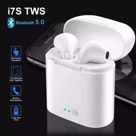 Headset bluetooth i7s tws suara jernih ready stock