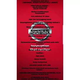 Lowongan Kerja Sales Executive &  Sales Counter Nissan Datsun Solo