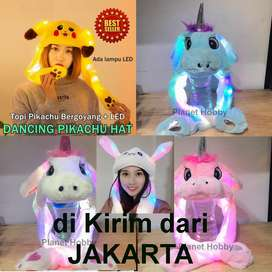 TOPI UNICORN LED MENYALA/TOPI KELINCI KUPING MENARI RABBIT HAT