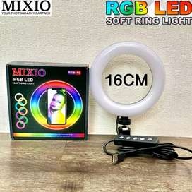 Mixio Ring Light Rainbow RGB 16CM RingLight TikTok Youtuber Streaming