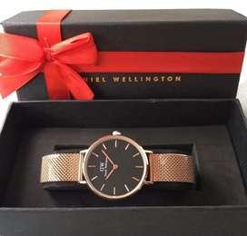 Jam tangan daniel wellington cewek rose gold fullset