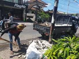 Jasa pickup DEFA TRANS buang puing Tabanan