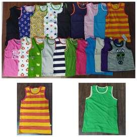 Kids Export SUMMER Sleeveless T-shirt wholsale garments tirupur