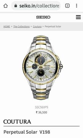Seiko Solar Watch Coutura