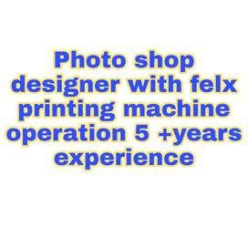 Photo shop designer for flex printing office